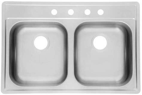 Topmount Kitchen Sinks As1276 33 Quot X 22 Quot X 6 Quot 6 Quot 18g Bowl Topmount Economy Stainless Steel Kitchen Sink Amerisink