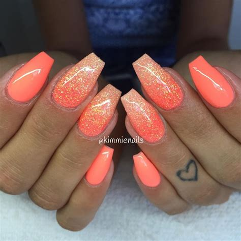 coral color nails best 25 coral nail designs ideas on coral