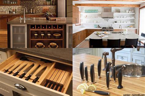 desain tempat penyimpanan peralatan dapur modern