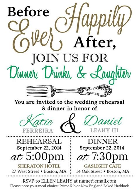 casual wedding rehearsal dinner invitations 5x7 customized wedding rehearsal dinner invitation