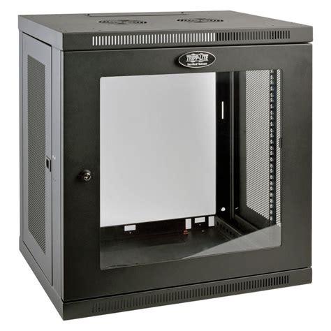 switch cabinet wall mount tripp lite smartrack 12 unit low profile wall rack
