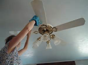 clean your ceiling fans heavenly homemakers