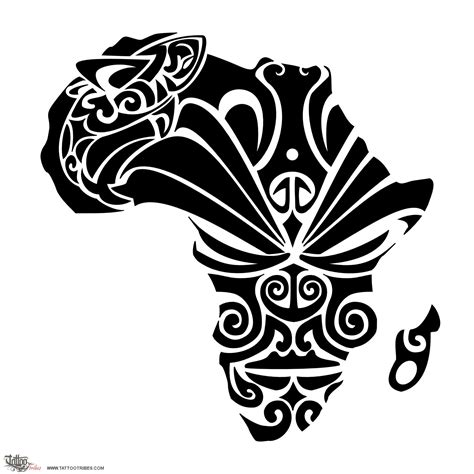 africa tribal tattoo of courage custom