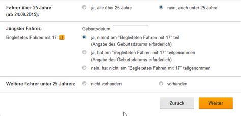 Versicherung Auto Unter 25 Jahre by Huk24 Rechner Mit Dem Versicherungsrechner Zum
