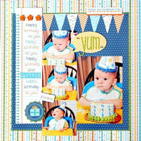 layout design for 1st birthday 190 best images about baby boy scrapbook page ideas on