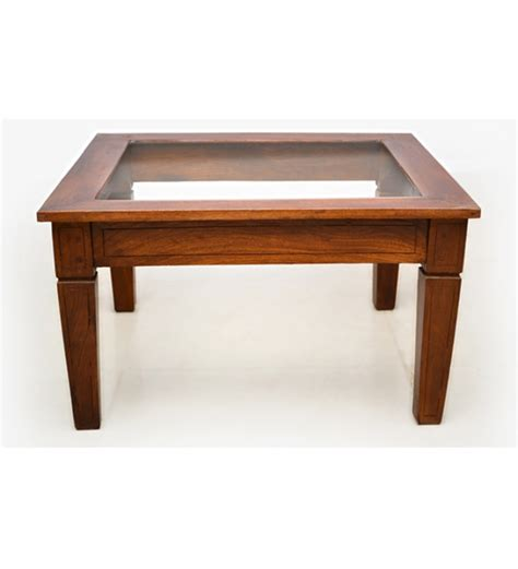 Wood Coffee Table Glass Top Attractive Glass Top Coffee Table In Mango Wood By Mudramark Coffee Centre Tables