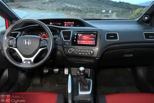 2015 honda civic si sedan interior 004 the about cars