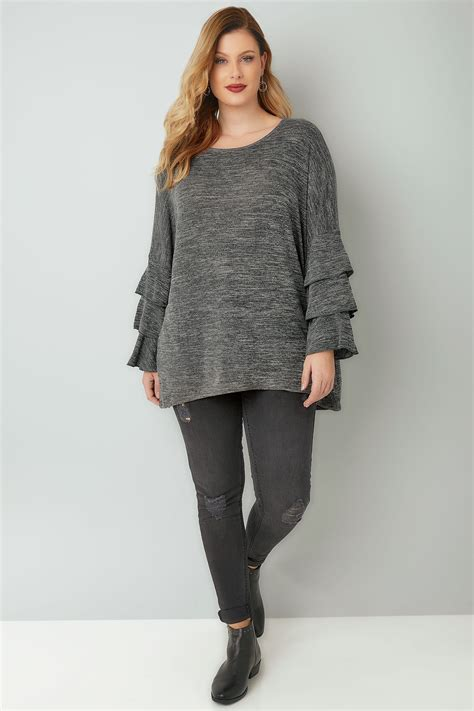 Check Value Of Visa Vanilla Gift Card - blue vanilla curve grey jumper with frilled flared sleeves plus size 18 28