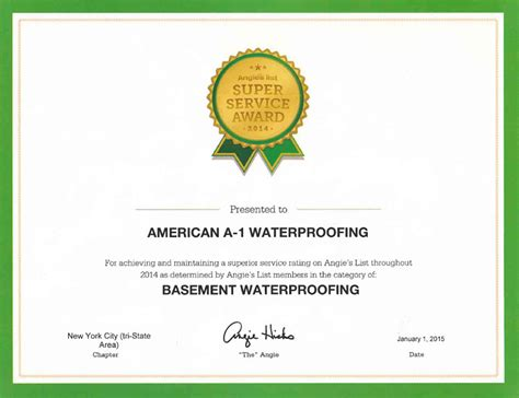 american a 1 waterproofing central jersey