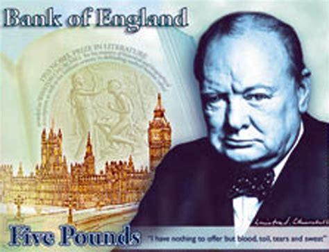 rivoluzione sulle banconote la fa posto a churchill