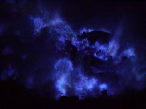 blue fire at kawah ijen   Picture of Ijen Crater