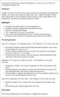 Auto Sales Manager Description by Resume Car Salesman