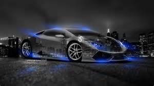 black lamborghini with neon blue lights lamborghini