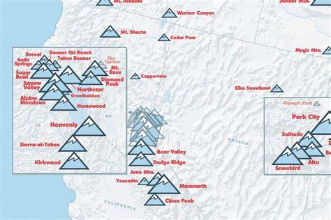 ski resorts in usa map us ski resorts map 24x36 poster best maps