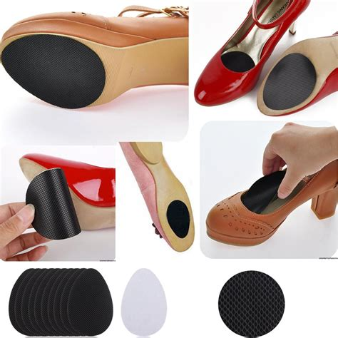 10pcs self adhesive anti slip stick on shoes grip pads non
