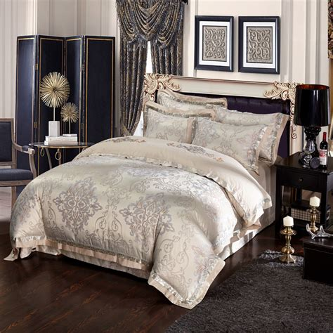 king linen comforter sets svetanya silk satin cotton blend bedding set king queen