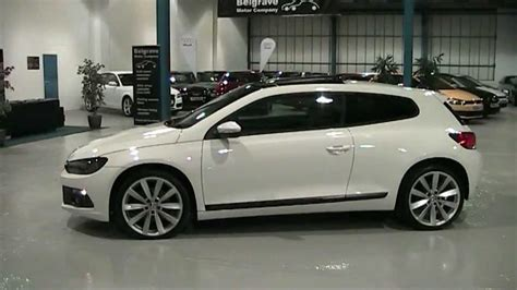 volkswagen scirocco white white vw scirocco with panoramic roof at belgrave motors