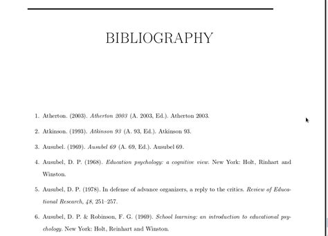 How To Make A Bibliography For A Research Paper - bibliographies adding numbers to author year citations