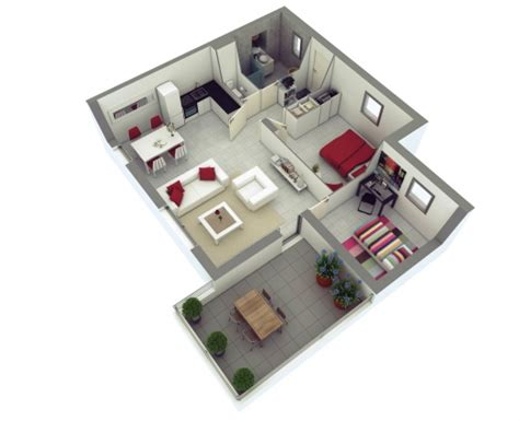 25 More 2 Bedroom 3d Stylish 25 More 2 Bedroom 3d Floor Plans Simple House
