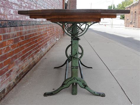 vintage cast iron table antique drafting table the home redesign