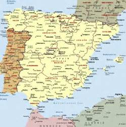 Political Map Of Spain by Spain Political Map Romania Maps And Views