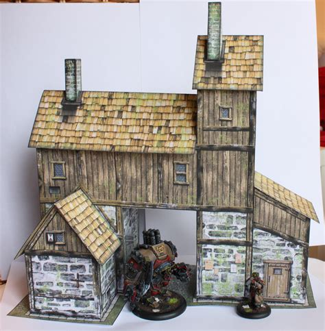 Papercraft Buildings - another papercraft building of steam and axe