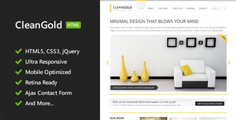 cleangold html5 site template jogjafile