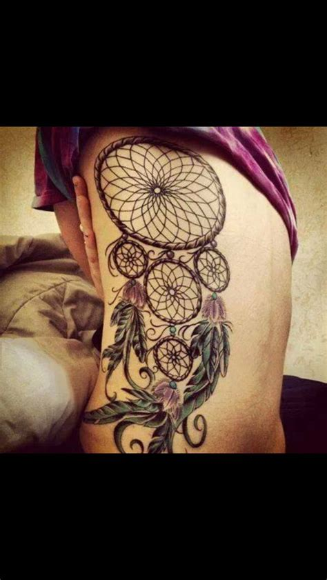 dream catcher tattoo on back catcher back