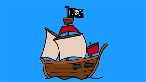 dessin de bateau facile a faire apprendre 224 dessiner un bateau de pirate youtube