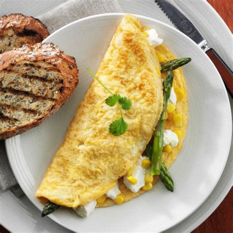 cottage cheese omelette asparagus sweet corn and cottage cheese omelette recipe