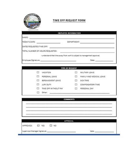 request form template 40 effective time request forms templates