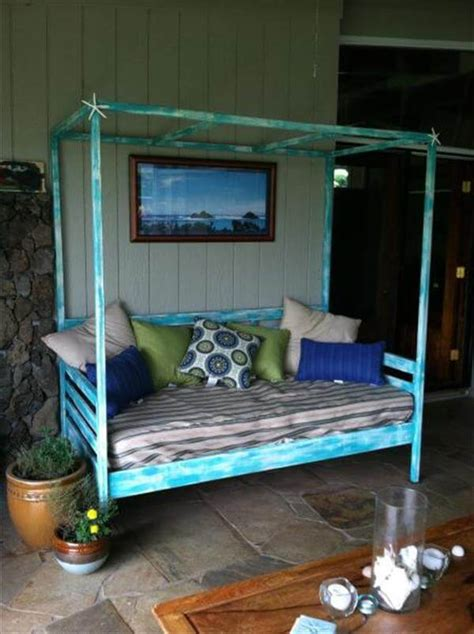 diy pallet outdoor bed 16 recycled outdoor wood furniture ideas newnist