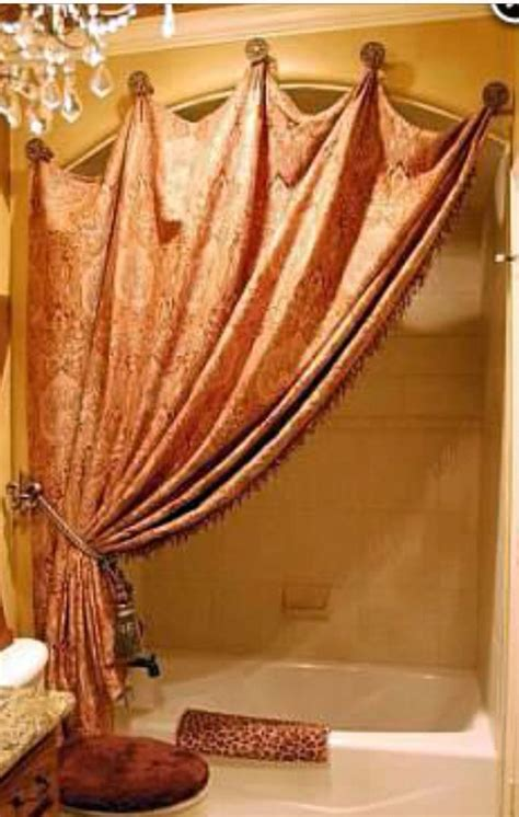 Different Ways To Drape Curtains Decor Great Way To Hang Shower Curtain Decor Home Pinterest