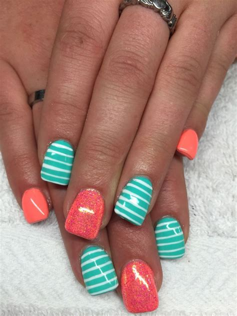 aqua acrylic nails best 20 aqua nails ideas on teal acrylic