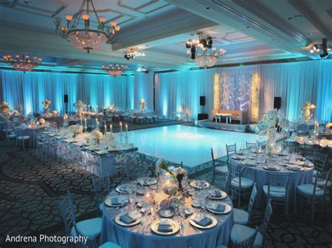 baby blue and silver wedding centerpieces alternating white and 43north biz