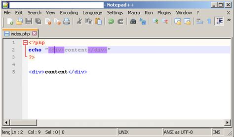 format html tags in notepad notepad highlight html tags in php super user