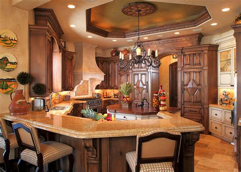 mediterranean decor a look at some elegant gourmet kitchens homes of the rich