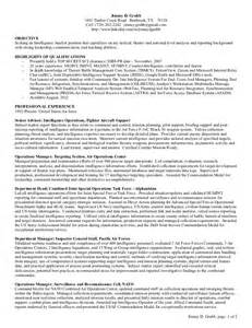 All Source Intelligence Analyst Sle Resume competent intel analyst