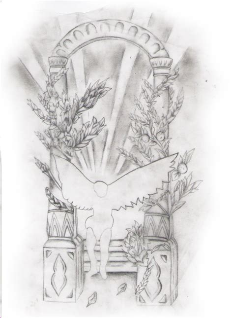 tattoo sketch angel sketch for adding background to old angel tattoo a photo