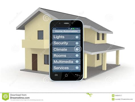 smartphone home automation home automation royalty free stock photography image 34694117