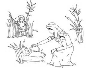 baby moses coloring page free printable moses coloring pages for
