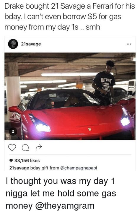 drake ferrari drake bought 21 savage a ferrari for his bday l can t even