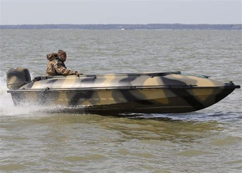 camo clad for boats wildfowl s best duck boats wildfowl