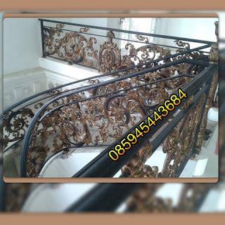 BESI TEMPA KLASIK ORNAMEN ALLUMINIUM : Pagar balkon tangga