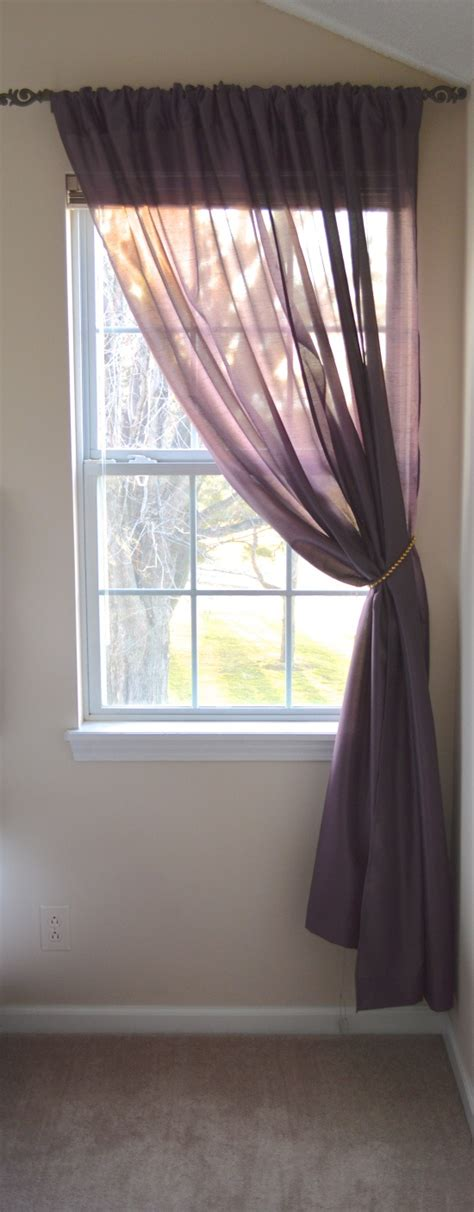 how to iron sheer curtains the single window with two sheer curtain panels on a