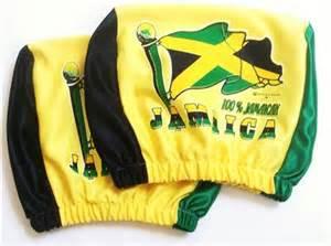Seat Covers Jamaica Jamaica Flag Irie Reggae 2 Car Seat Rest Covers