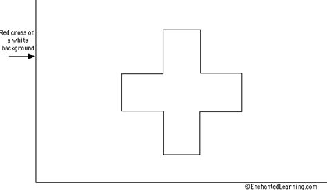red cross flag coloring page enchantedlearning com