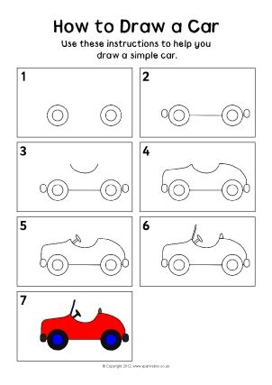 how to draw a car 8 steps with pictures wikihow how to draw step by step for free printables sparklebox