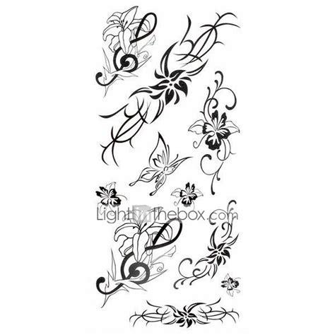 1pc lily butterfly flower series waterproof body art