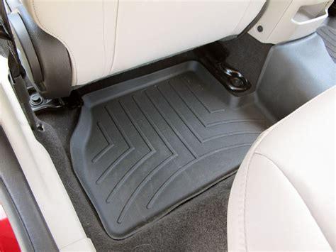 1 2nd Row Floor Mat - weathertech 2nd row rear auto floor mat black